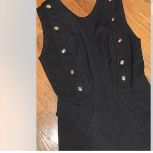 ALTUZARRA Military Bodice Structured Sheath Dress
